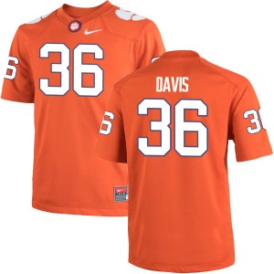 Judah Davis Nike Clemson Tigers Men's Game Team Color Jersey  -  Orange
