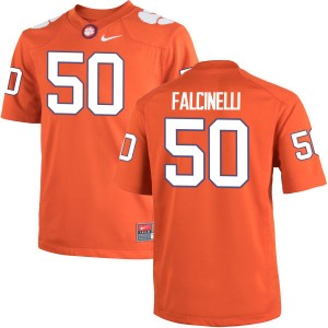 Justin Falcinelli Nike Clemson Tigers Men's Game Team Color Jersey  -  Orange