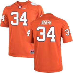 Kendall Joseph Nike Clemson Tigers Men's Game Team Color Jersey  -  Orange