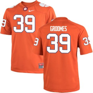 Christian Groomes Nike Clemson Tigers Youth Authentic Team Color Jersey  -  Orange