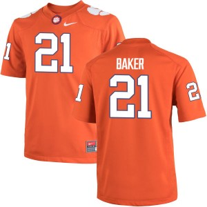 Adrian Baker Nike Clemson Tigers Youth Game Team Color Jersey  -  Orange