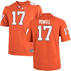Cornell Powell Nike Clemson Tigers Youth Game Team Color Jersey  -  Orange