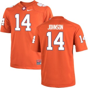 Denzel Johnson Nike Clemson Tigers Youth Game Team Color Jersey  -  Orange