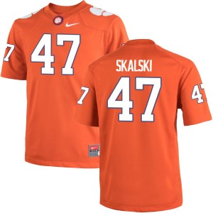 James Skalski Nike Clemson Tigers Youth Game Team Color Jersey  -  Orange