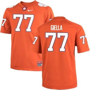 Zach Giella Nike Clemson Tigers Youth Game Team Color Jersey  -  Orange