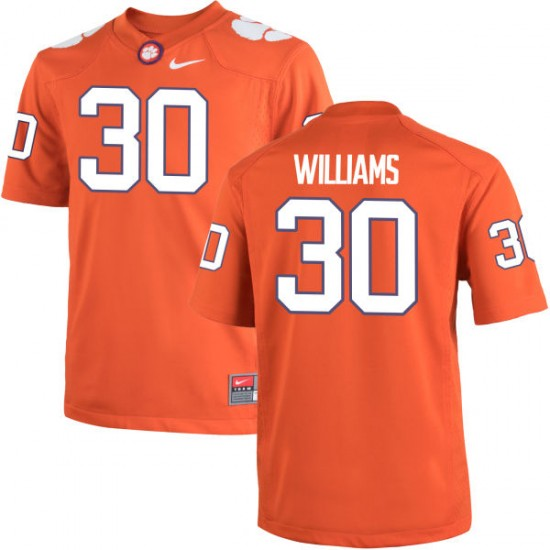 Jalen Williams Nike Clemson Tigers Men's Authentic Team Color Jersey  -  Orange