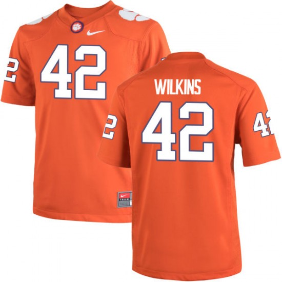 Christian Wilkins Nike Clemson Tigers Youth Replica Team Color Jersey  -  Orange